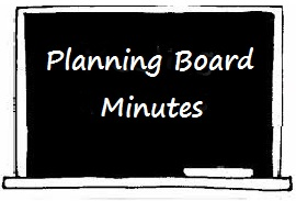 Planning Board Minutes