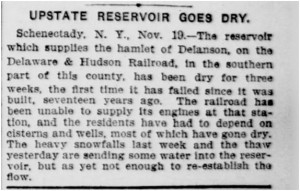 Reservoir goes dry Nov 19, 1906