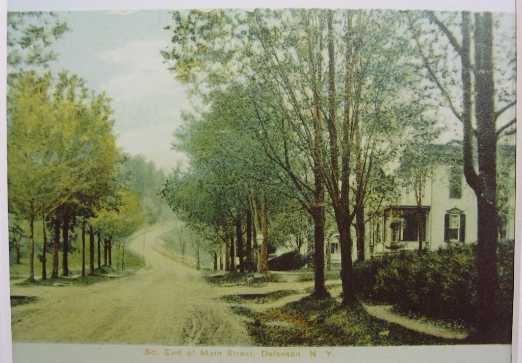 Spring in the Village of Delanson early 1900's